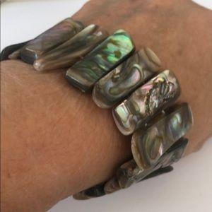 Vintage Abalone Stretch Bracelet New Old Stock